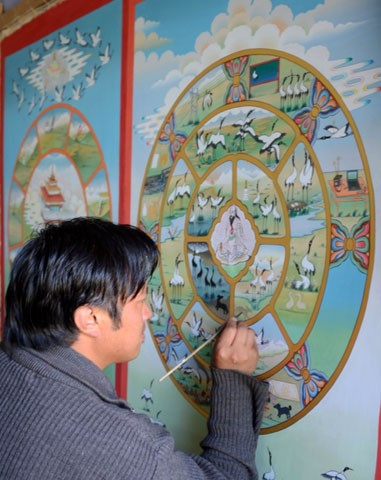 Rinchen at his work
