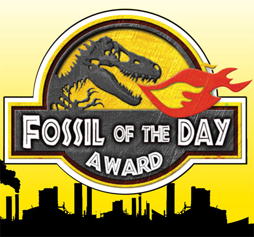 fossil of the day award