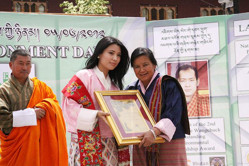 HRH Ashi Chimi Yangzom Wangchuck conferred the award.