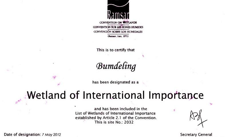 ramsar certificate bumdeling